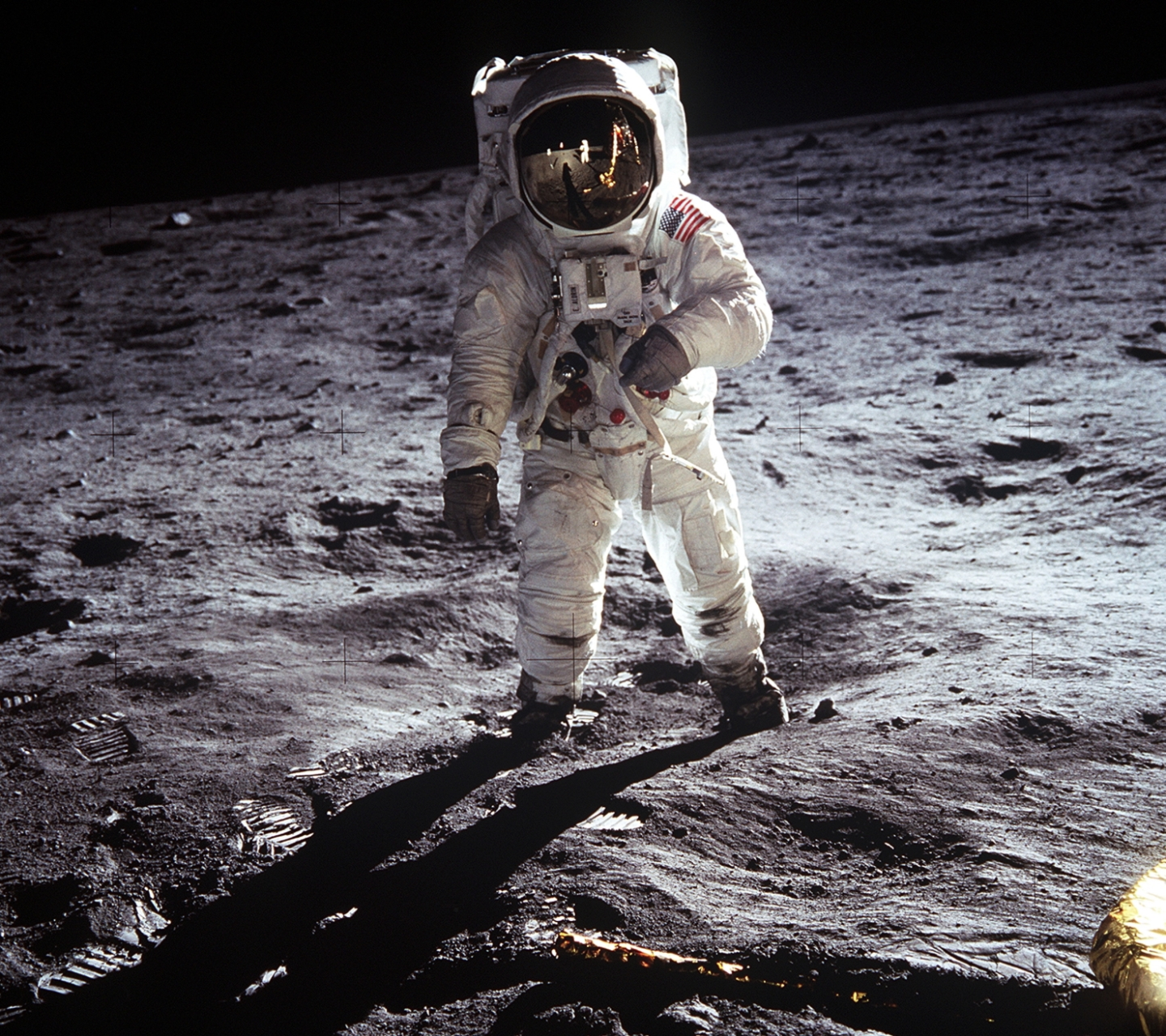 The astronaut on the moon's surface