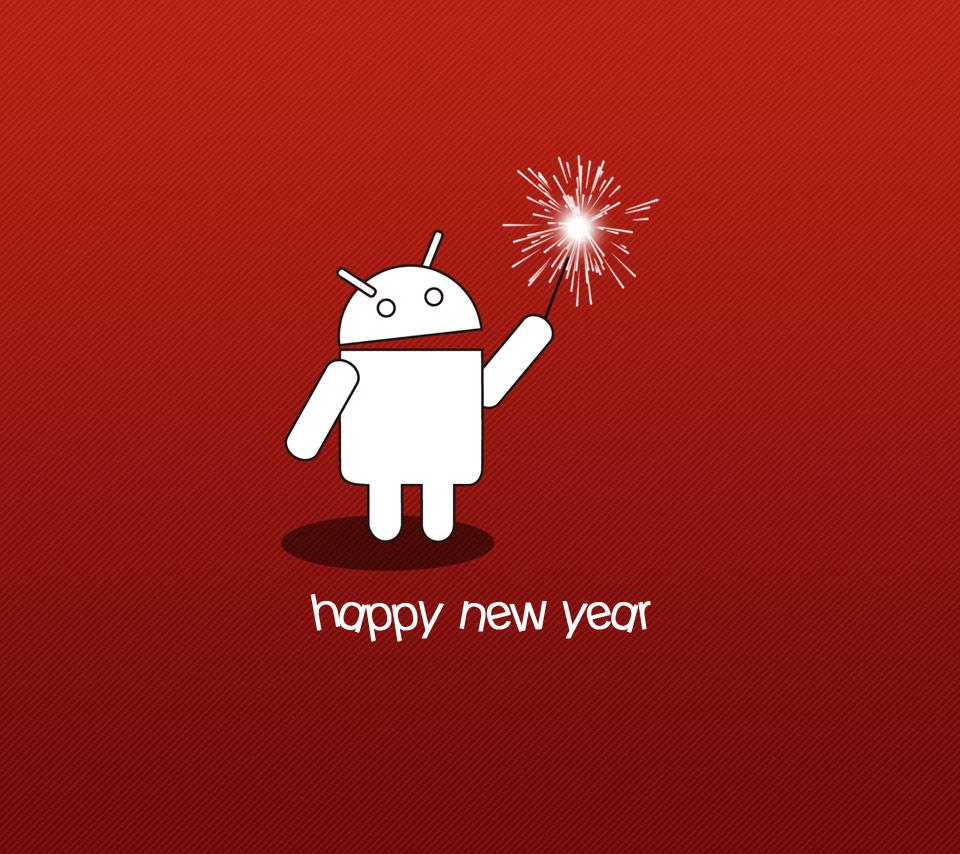 HAPPY NEW YEARのドロイド君の壁紙