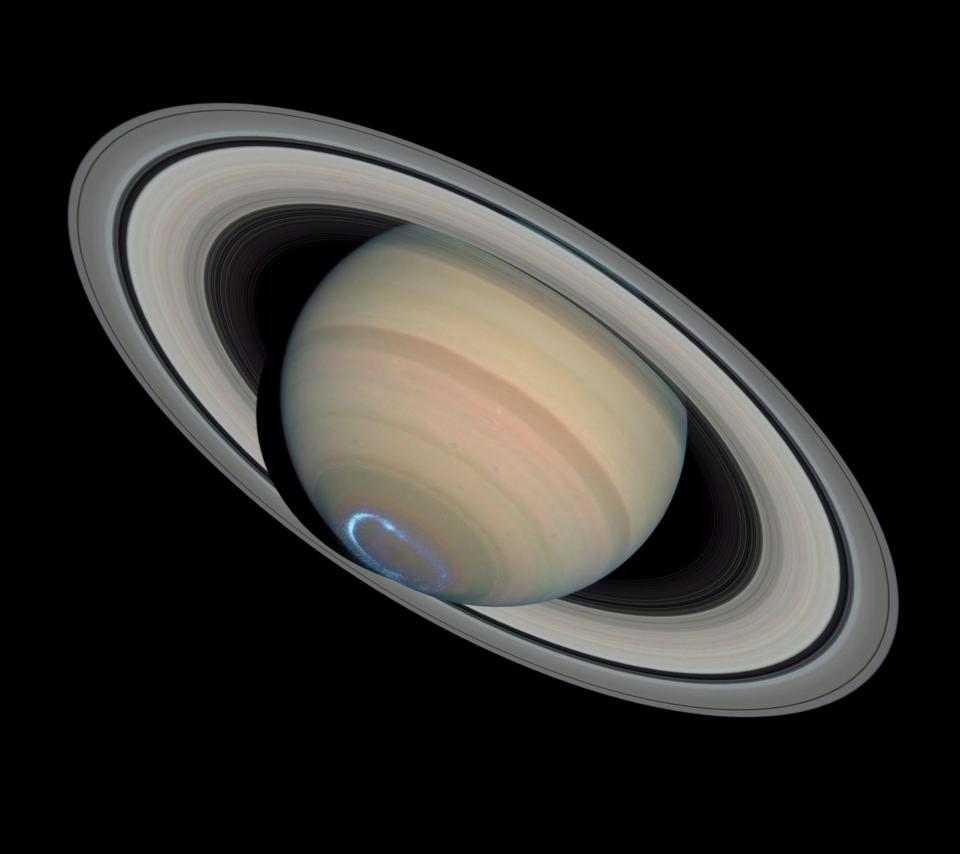 壁紙 土星のオーロラのスマホ壁紙960x854 Saturn 004 Jpg 壁紙box