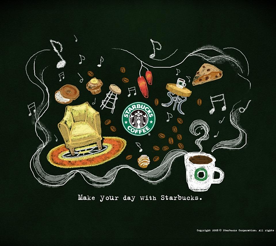 壁紙 スターバックスコーヒーのスマホ壁紙960x854 Starbucks A05 Jpg 壁紙box