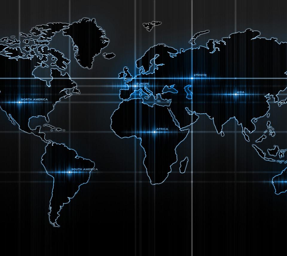 壁紙 世界地図のスマホ壁紙960x854 World Map 002 Jpg 壁紙box