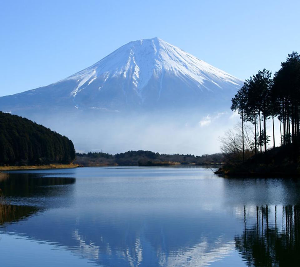 壁紙 富士山の風景のスマホ壁紙960x854 Fuji A01 Jpg 壁紙box
