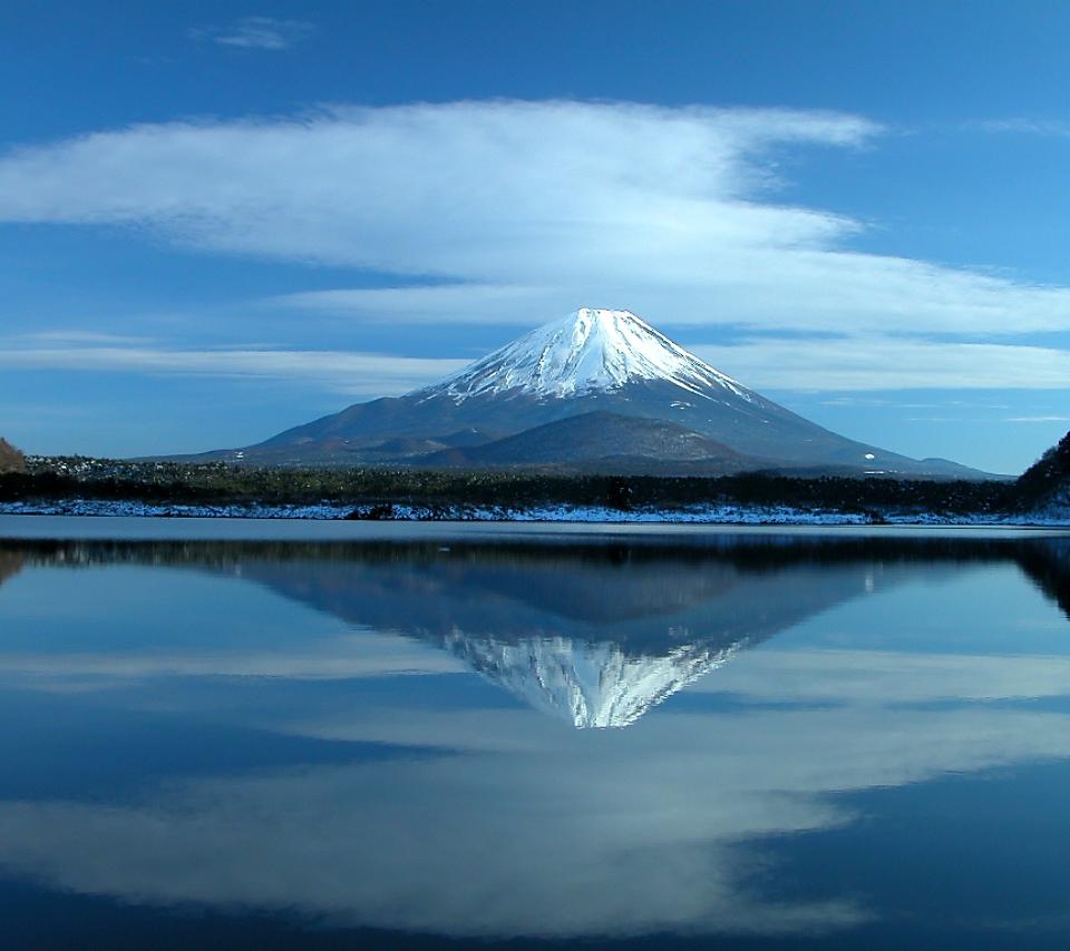 壁紙 富士山の風景のスマホ壁紙960x854 Fuji A02 Jpg 壁紙box